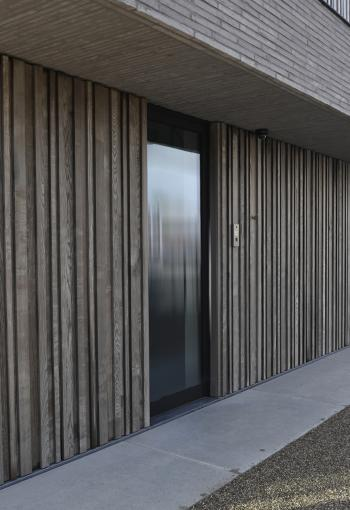 Timber cladding GP's surgery Meulebeke