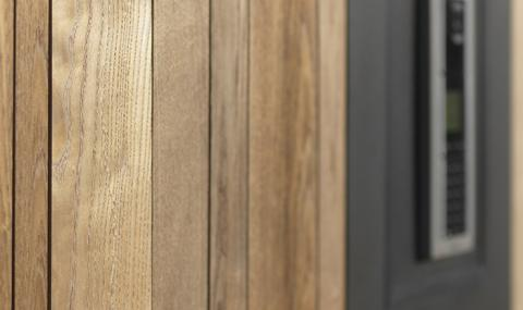 Wooden fencing HOTwood ash SV+ profile