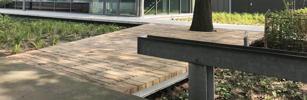 Oak decking boards