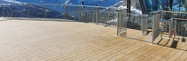Accoya decking boards