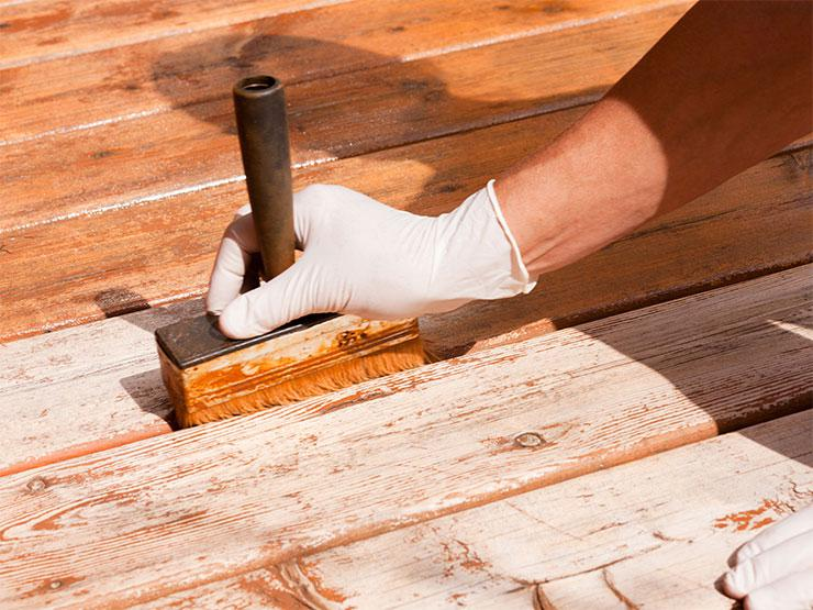 Staining, oiling and painting
