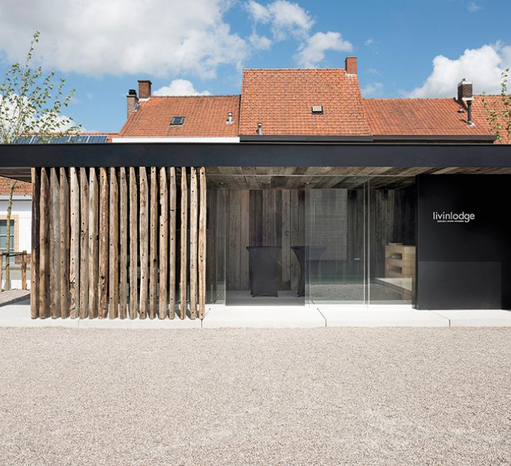 Wooden outbuilding showroom