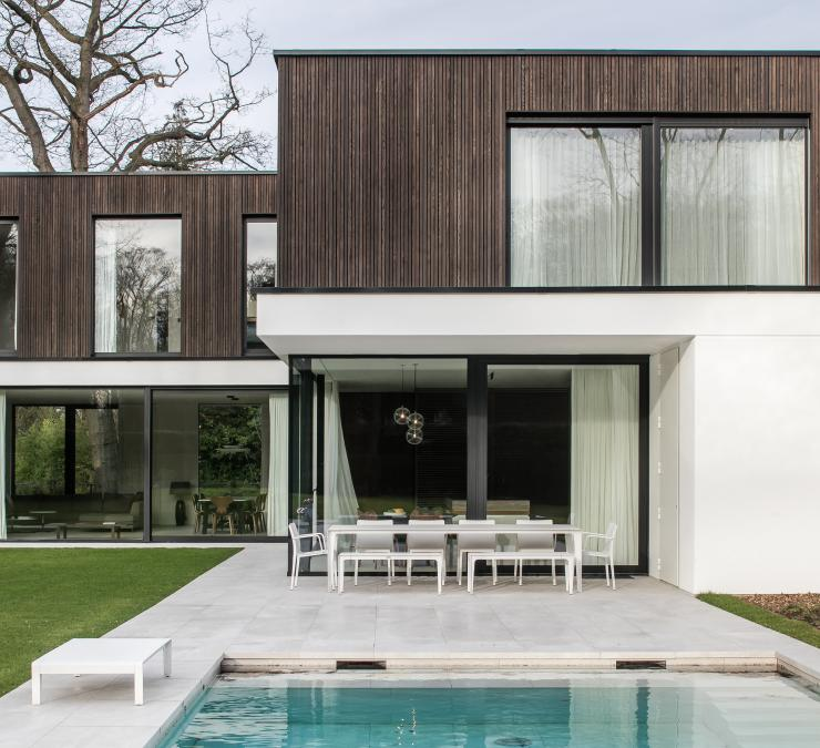 Timber cladding private residence Ghent region