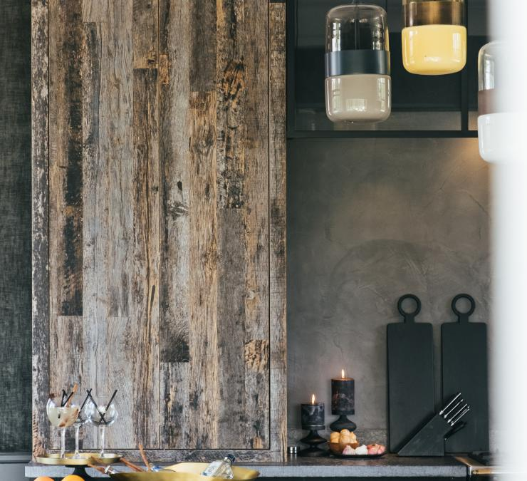Reclaimed wood kitchen, Kortrijk