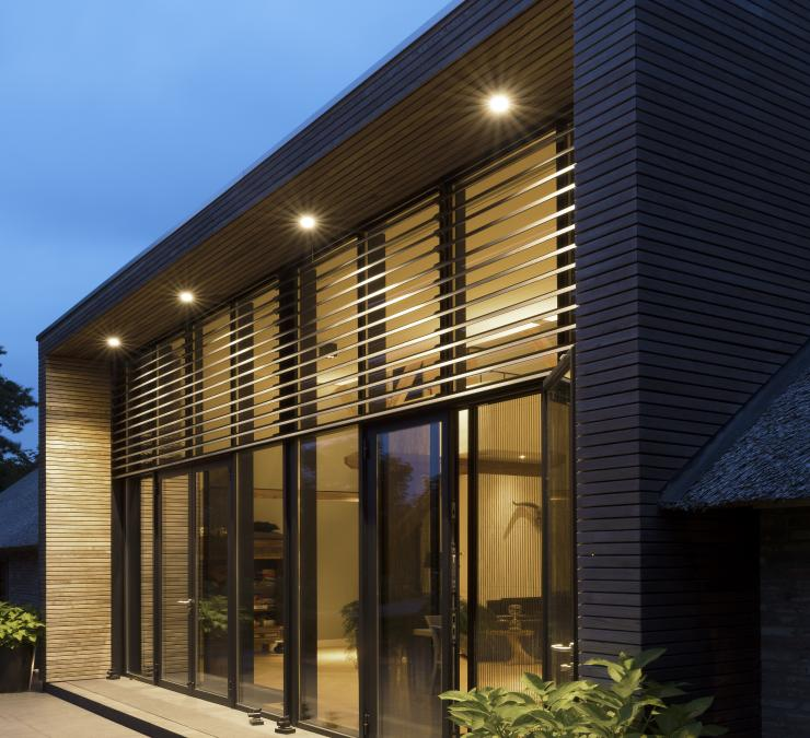 Timber cladding HOTwood ash Zwolle, the Netherlands