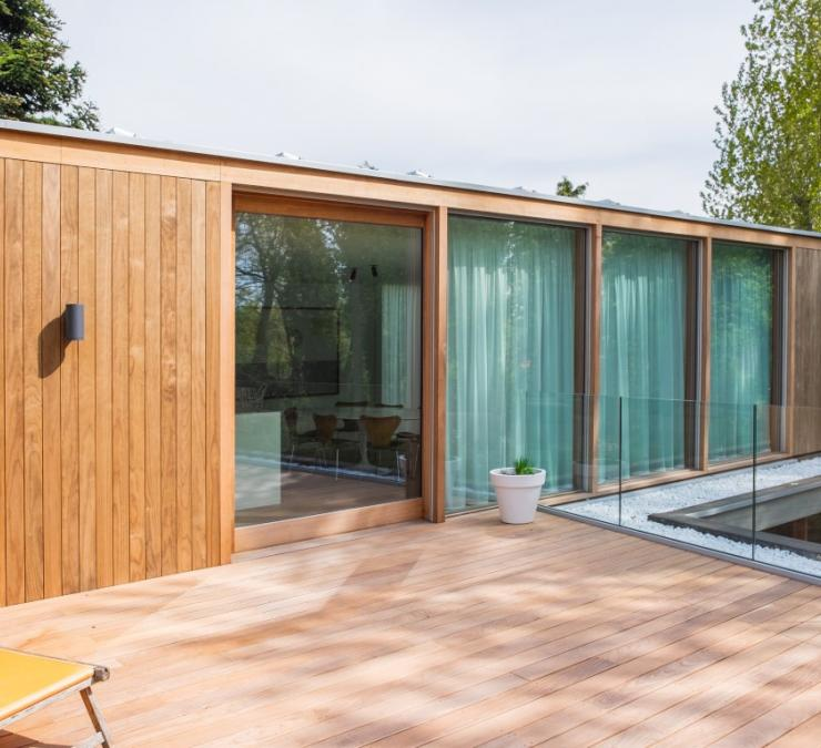 Timber cladding HOTwood clear pine Residence Koksijde