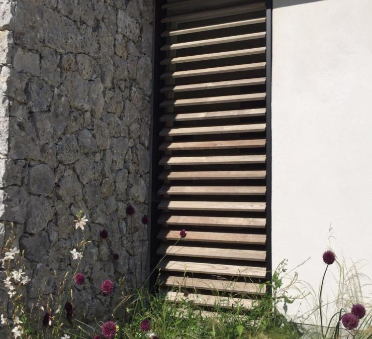 Oak shutters on an outbuilding in Flemish Brabant