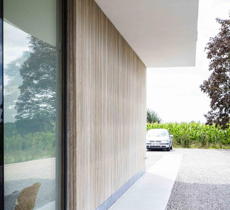 Thermo ash cladding notary's office Diksmuide | Carpentier